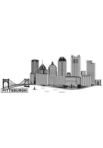 Wall-Art Wandtattoo »XXL Stadt Skyline Pittsburgh 120cm« kaufen