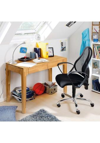 andas Schreibtisch »Marsens«, aus schönem massivem Eichenholz, mit zwei Schubladen, Breite 105 cm kaufen