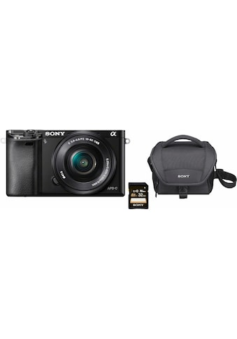 Sony Systemkamera »Alpha ILCE-6000L«, SEL-P1650, 24,3 MP, WLAN (Wi-Fi)-NFC,... kaufen