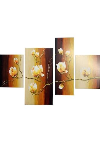 DELAVITA Bild »RUMIN / Magnolienzweig«, (4 St., 4-teilig) kaufen