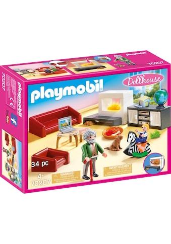 Playmobil® Konstruktions-Spielset »Gemütliches Wohnzimmer (70207), Dollhouse«, (34... kaufen