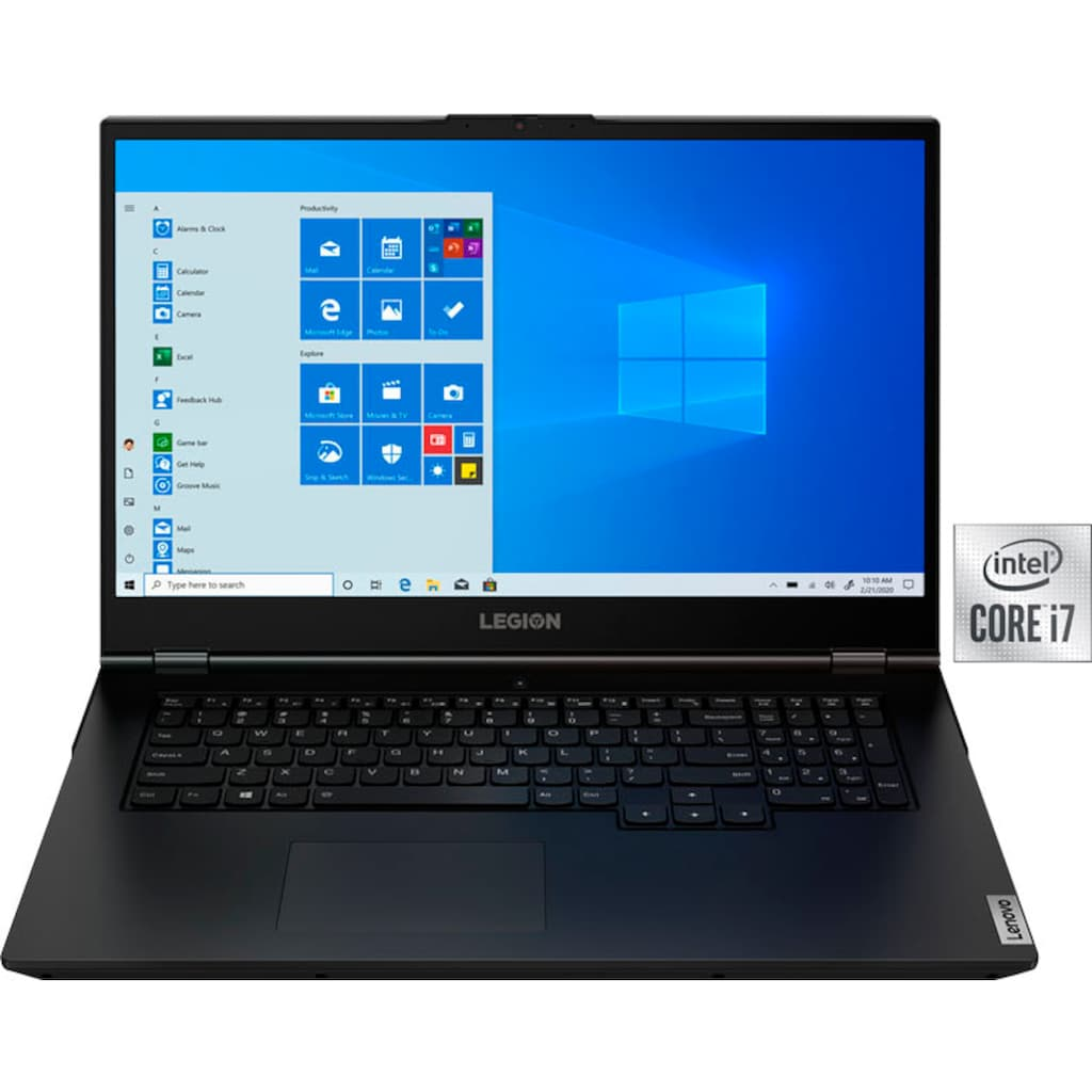 "Lenovo Notebook »Legion 5 17IMH05«, (43,94 cm/17,3 "" Intel Core i7 GeForce GTX 1650 Ti\r\n 1024 GB SSD), Kostenloses Upgrade auf Windows 11, sobald verfügbar"