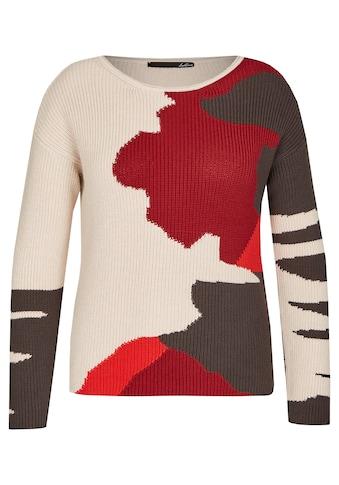 LeComte Rundhalspullover, mit abstraktem Design und sportiven Elementen kaufen