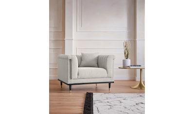 Guido Maria Kretschmer Home&Living Cocktailsessel »Chamby New«, im Bouclé-Strukturbezug mit Steppung im Lehnenbereich kaufen
