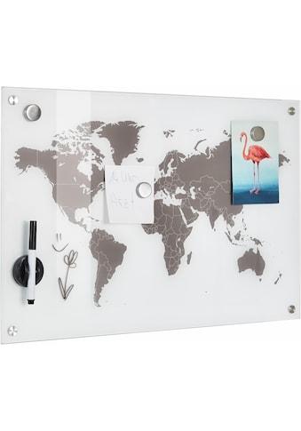 Zeller Present Pinnwand »Worldmap«, Glas 60x40 kaufen
