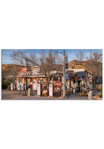 Artland Glasbild »Tankstelle an der Route 66 in Arizona«, Gebäude, (1 St.) kaufen