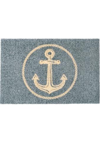 my home Fußmatte »Anker«, rechteckig, 5 mm Höhe, Fussabstreifer, Fussabtreter,... kaufen