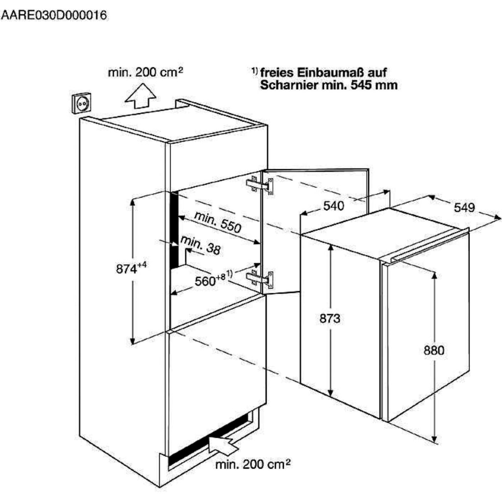 AEG Einbaukühlschrank »SKE788FAAS«