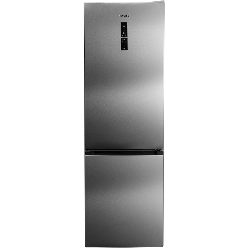 GORENJE Kühl-/Gefrierkombination, NK7990DX, 185 cm hoch, 60 cm breit