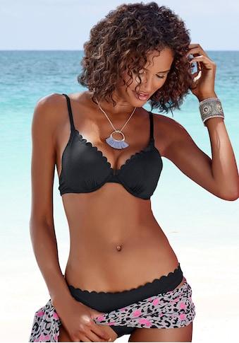 LASCANA Bügel-Bikini-Top »Scallop«, mit Wattierung kaufen