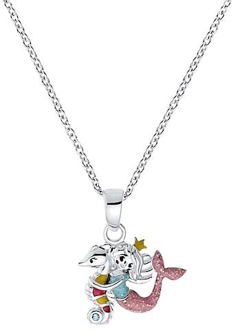Prinzessin Lillifee Kette mit Anhänger »Seepferd/Meerjungfrau 2031159«, mit Zirkonia... kaufen
