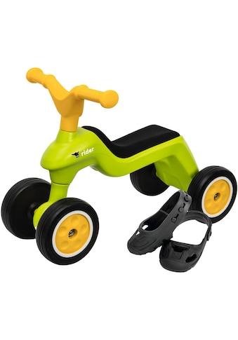 BIG Rutscherauto »BIG Rider + BIG Shoe Care, grün/gelb«, Made in Germany kaufen