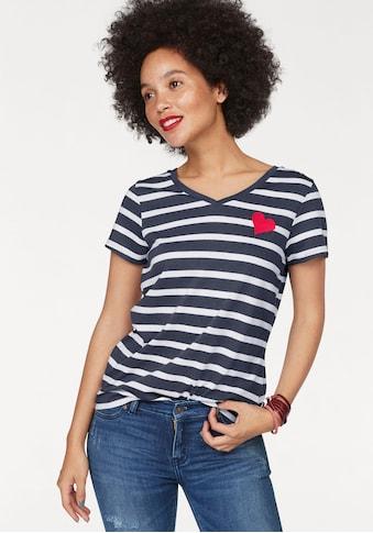 AJC T-Shirt, mit Herzchen-Stickerei kaufen