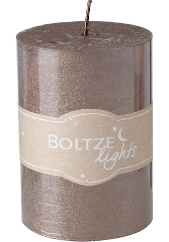 BOLTZE Stumpenkerze »Mora«, Ø ca. 7 cm kaufen