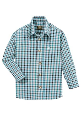 OS-Trachten Trachtenhemd, in moderner Karo-Optik kaufen