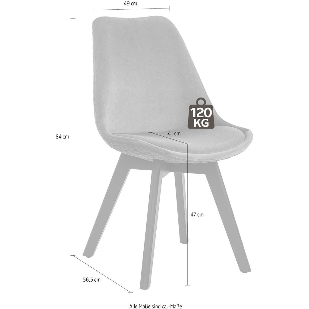 SalesFever Esszimmerstuhl, mit Wabensteppung auf der Rückseite, im 2er-Set