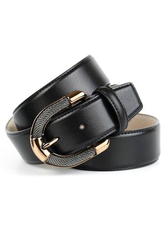 Anthoni Crown Ledergürtel, mit aufwendiger Schmuck-Schließe in Bicolor-Optik kaufen