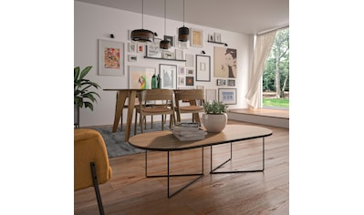 TemaHome Couchtisch »Oval«, mit einer Holzfurnier Tischplatte und einem edlen... kaufen