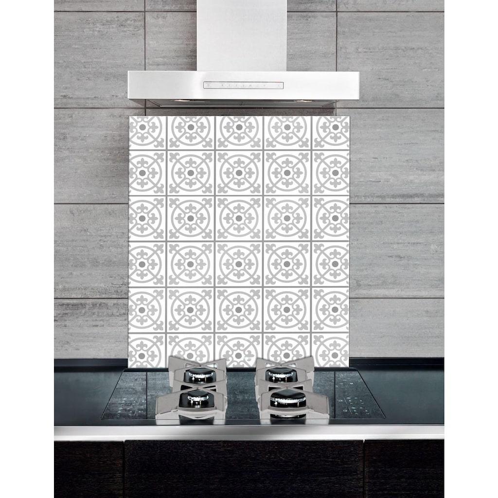WENKO Küchenrückwand »Fliesen«, dekorative, pflegeleichte Glasplatte