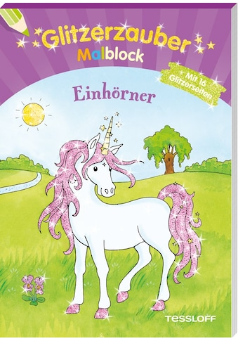 Buch Glitzerzauber Malblock Einhörner / Corina Beurenmeister kaufen