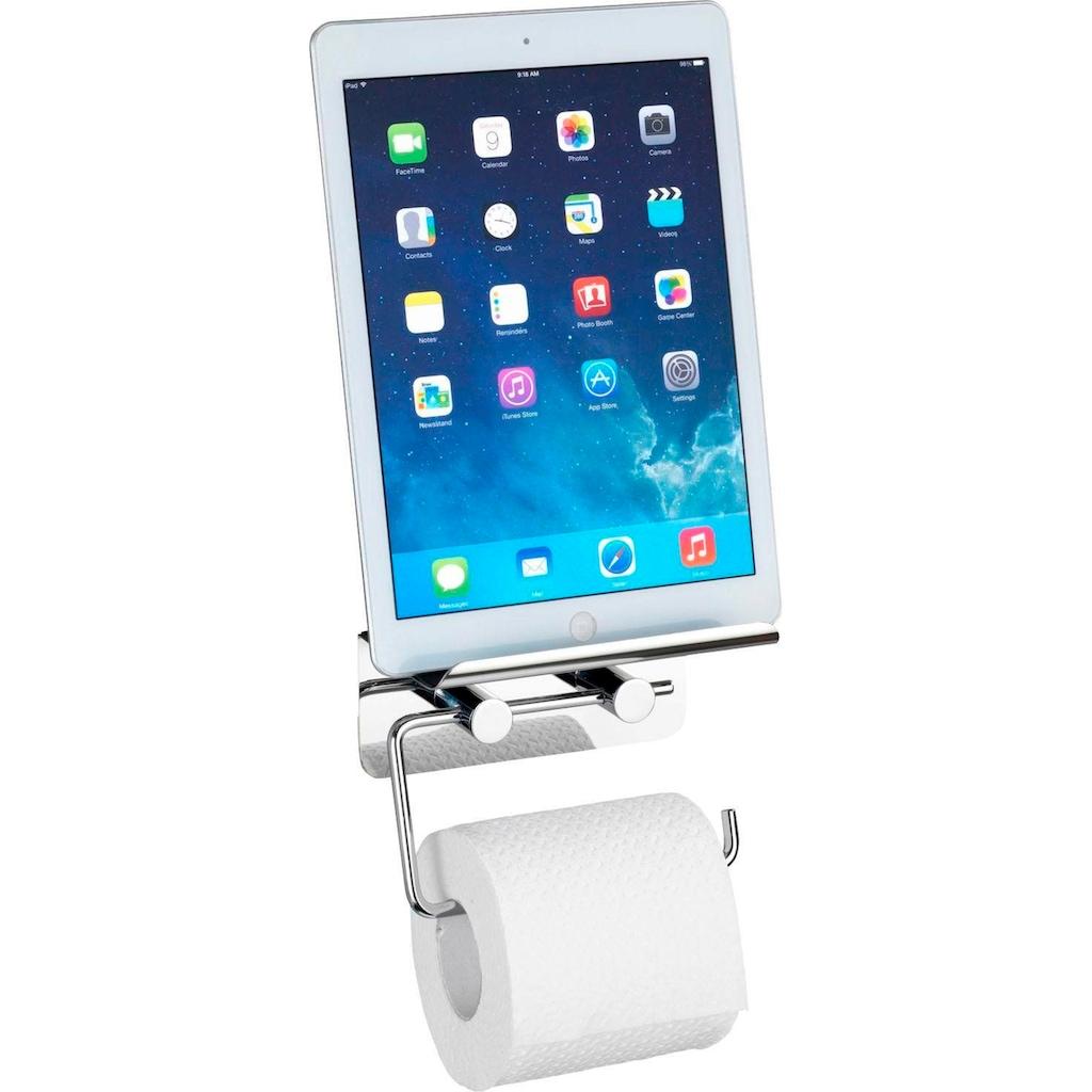 WENKO Toilettenpapierhalter, mit Soft-Touch Smartphone-Ablage