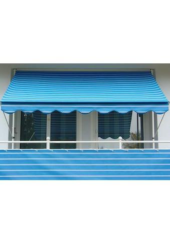 Angerer Freizeitmöbel Balkonsichtschutz, Meterware, blau/weiß, H: 90 cm kaufen