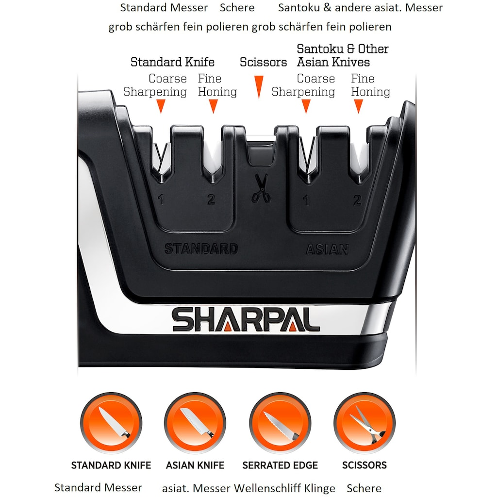 SHARPAL Messerschärfer »Professional Knife Scissors Sharpener - Asia«