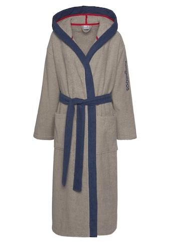 KangaROOS Unisex-Bademantel »Henry«, mit Kimonokragen und Logostickerei kaufen