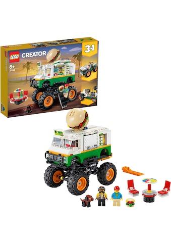 LEGO® Konstruktionsspielsteine »Burger-Monster-Truck (31104), LEGO® Creator«, (499... kaufen