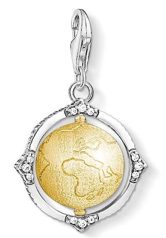 THOMAS SABO Charm-Einhänger »Vintage Weltkugel, 1711-849-39«, mit Zirkonia kaufen