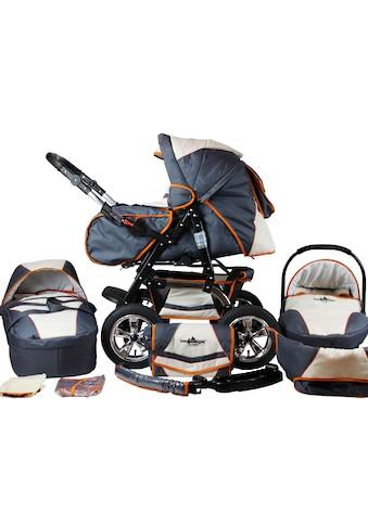 bergsteiger Kombi-Kinderwagen »Milano, beige & grey, 3in1«, 15 kg, Made in Europe kaufen