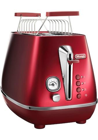 De'Longhi Toaster »Distinta CTI 2103.R«, für 2 Scheiben, 900 Watt kaufen