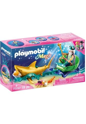 Playmobil® Konstruktions-Spielset »Meereskönig mit Haikutsche (70097), Magic«, Made in... kaufen