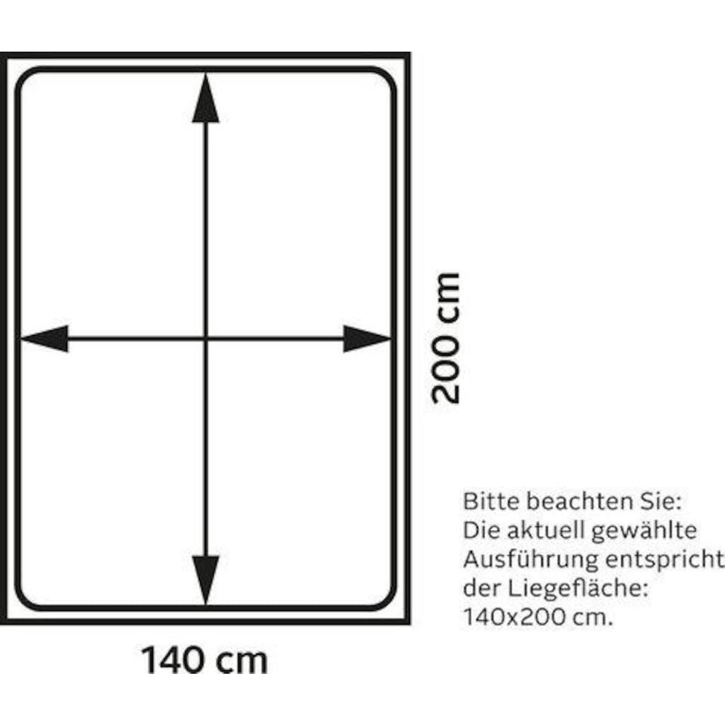 INOSIGN Boxspringbett »Tavira«, in 4 Breiten, 4 Farben und 3 Matratzenarten, incl. Topper