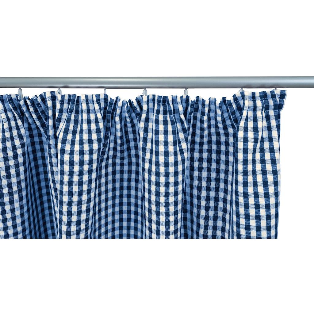 VHG Vorhang »Resi«, Leinenoptik, Karo