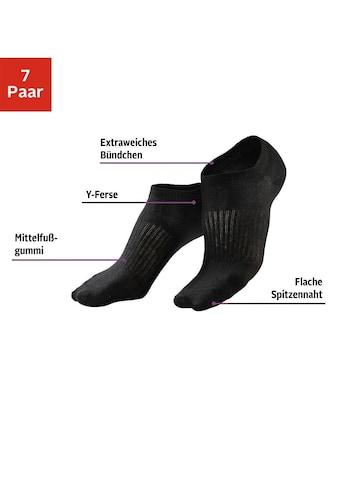 LASCANA ACTIVE Sneakersocken, (7 Paar), mit Mittelfußgummi kaufen