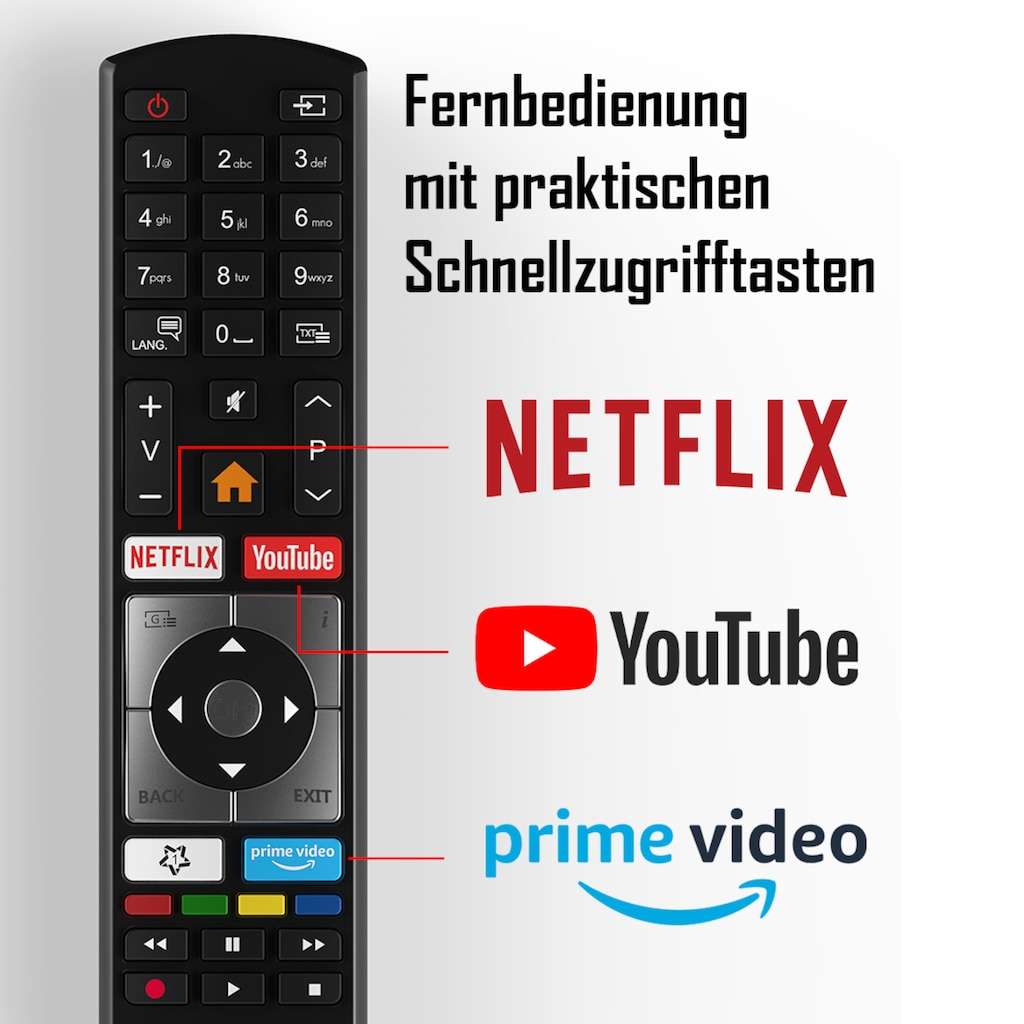 "Telefunken LED-Fernseher »XU55K521«, 139 cm/55 "", 4K Ultra HD, Smart-TV"