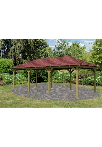 Karibu Holzpavillon »Mailand 2«, BxT: 345x696 cm, inkl. Dachschindeln und Pfostenanker kaufen