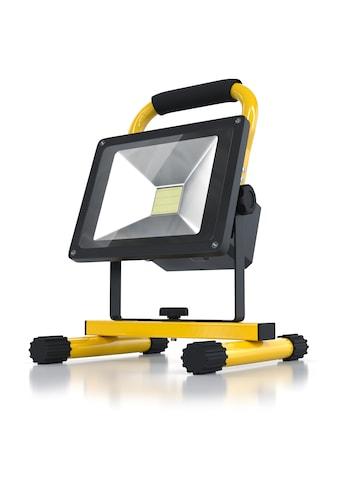 Brandson Akku LED Baustrahler 20W für Innen & Außen »Baulampe mit Standgestell & Tragegriff« kaufen