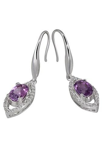 goldmaid Paar Ohrhänger Silber 925/- Amethyst Zirkonia PremiumShine kaufen