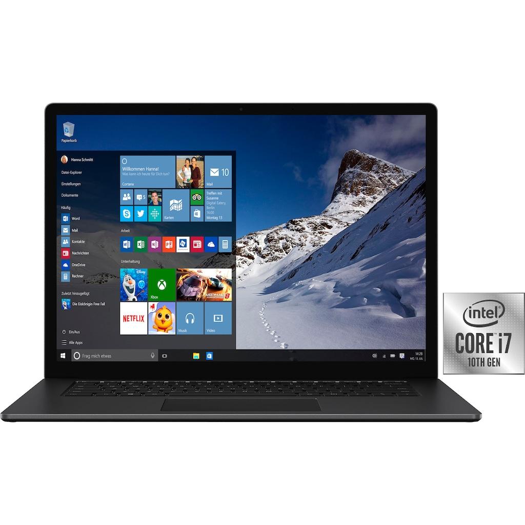 "Microsoft Notebook »Surface Laptop 4«, (38,1 cm/15 "" Intel Core i7 Iris Plus Graphics\r\n 512 GB SSD)"
