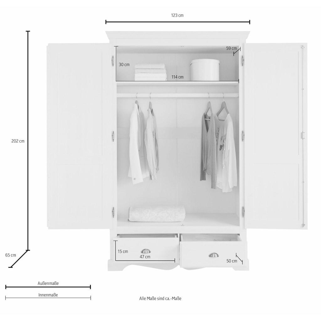 Home affaire Kleiderschrank »Teo«, in vier verschiedenen Breiten und zwei unterschiedlichen Farben