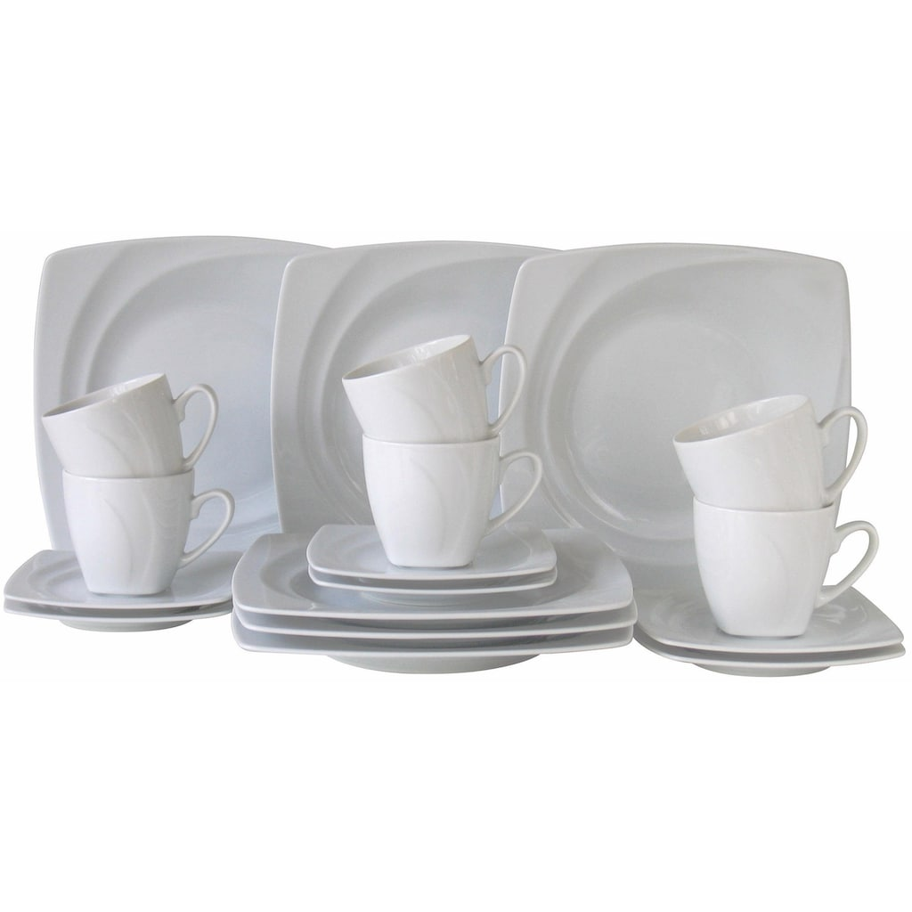 CreaTable Kaffeeservice »Celebration«, (Set, 18 tlg.), spülmaschinenfest