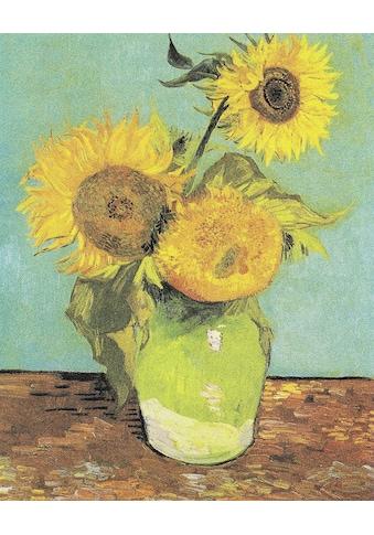 DELAVITA Leinwandbild »V.Van GOGH, Drei Sonnenblumen in einer Vase«, (1 St.) kaufen