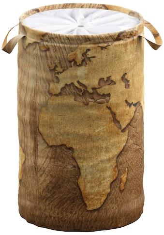 Sanilo Wäschekorb »World Map«, 60 Liter, faltbar, mit Sichtschutz kaufen