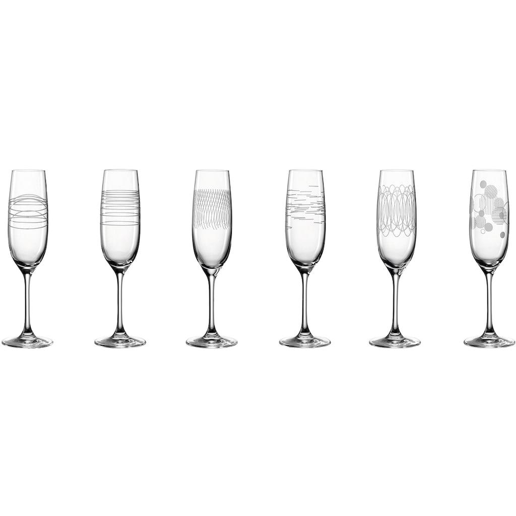 LEONARDO Sektglas »Casella«, (Set, 6 tlg.), 190 ml, 6-teilig