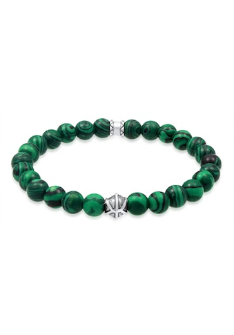 Kuzzoi Armband »Herren Achat Malachit Bead Oxidiert 925 Silber« kaufen