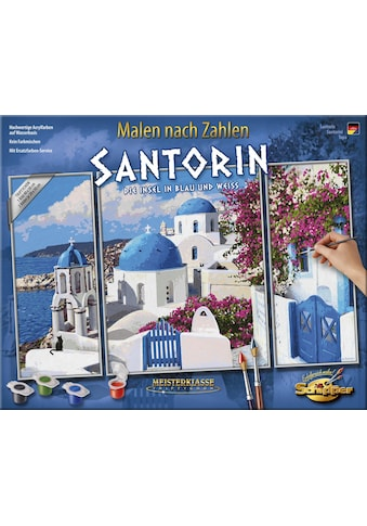 Schipper Malen nach Zahlen »Meisterklasse Triptychon, Santorin - Die Insel in Blau und... kaufen