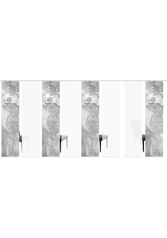 HOME WOHNIDEEN Schiebegardine »WALLONA 8ER SET«, HxB: 245x60 kaufen