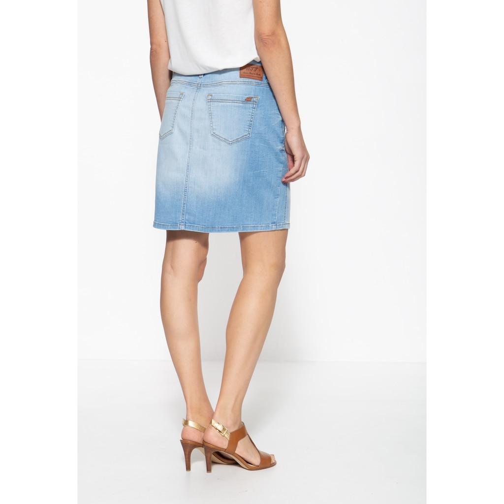 ATT Jeans Jeansrock »Megan«, mit Waschung und dezenter Stickerei an der Gürtelschlaufe